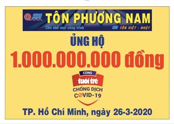 Công ty Tôn Phương Nam ủng hộ 1 tỷ đồng
